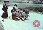 Image of evacuating civilians Europe, 1945, second 11 stock footage video 65675064577