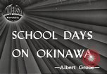Image of Japanese school Okinawa Ryukyu Islands, 1945, second 1 stock footage video 65675064608