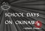 Image of Japanese school Okinawa Ryukyu Islands, 1945, second 2 stock footage video 65675064608