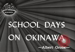 Image of Japanese school Okinawa Ryukyu Islands, 1945, second 3 stock footage video 65675064608