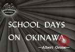 Image of Japanese school Okinawa Ryukyu Islands, 1945, second 4 stock footage video 65675064608