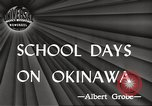 Image of Japanese school Okinawa Ryukyu Islands, 1945, second 5 stock footage video 65675064608