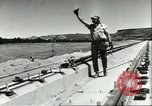 Image of rocket sled test Utah United States USA, 1956, second 10 stock footage video 65675064621