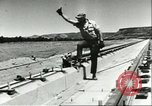 Image of rocket sled test Utah United States USA, 1956, second 12 stock footage video 65675064621