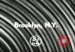 Image of USS Lake Champlain Brooklyn New York City USA, 1956, second 5 stock footage video 65675064627
