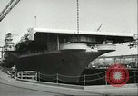 Image of USS Lake Champlain Brooklyn New York City USA, 1956, second 7 stock footage video 65675064627