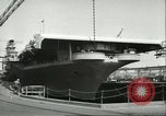 Image of USS Lake Champlain Brooklyn New York City USA, 1956, second 8 stock footage video 65675064627