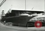 Image of USS Lake Champlain Brooklyn New York City USA, 1956, second 9 stock footage video 65675064627