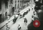 Image of Feast Day of San Fermin Pamplona Spain, 1956, second 5 stock footage video 65675064636