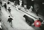 Image of Feast Day of San Fermin Pamplona Spain, 1956, second 7 stock footage video 65675064636