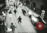 Image of Feast Day of San Fermin Pamplona Spain, 1956, second 8 stock footage video 65675064636