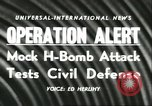 Image of Operation Alert nuclear attack readiness drill  Washington DC USA, 1956, second 4 stock footage video 65675064638