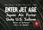 Image of F-86 Sabre fighter planes Japan, 1956, second 1 stock footage video 65675064639
