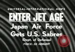Image of F-86 Sabre fighter planes Japan, 1956, second 3 stock footage video 65675064639