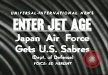 Image of F-86 Sabre fighter planes Japan, 1956, second 5 stock footage video 65675064639