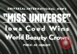 Image of Miss Universe Beauty Pageant California United States USA, 1956, second 2 stock footage video 65675064640
