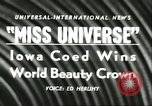 Image of Miss Universe Beauty Pageant California United States USA, 1956, second 4 stock footage video 65675064640