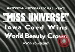 Image of Miss Universe Beauty Pageant California United States USA, 1956, second 5 stock footage video 65675064640