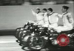 Image of car and motorcycle stunt show Chicago Illinois USA, 1956, second 8 stock footage video 65675064641
