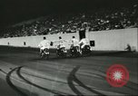 Image of car and motorcycle stunt show Chicago Illinois USA, 1956, second 10 stock footage video 65675064641