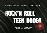 Image of 8th National High School Championship Rodeo Reno Nevada USA, 1956, second 1 stock footage video 65675064652