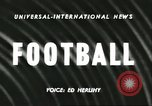 Image of football match California United States USA, 1956, second 2 stock footage video 65675064663