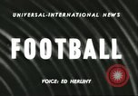 Image of football match California United States USA, 1956, second 3 stock footage video 65675064663