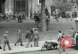 Image of riots Rome Italy, 1955, second 10 stock footage video 65675064680