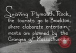 Image of tourists Brockton Massachusetts USA, 1924, second 5 stock footage video 65675064801