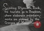 Image of tourists Brockton Massachusetts USA, 1924, second 9 stock footage video 65675064801