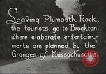 Image of tourists Brockton Massachusetts USA, 1924, second 11 stock footage video 65675064801