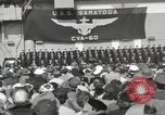 Image of USS Saratoga New York United States USA, 1956, second 6 stock footage video 65675064941