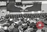 Image of USS Saratoga New York United States USA, 1956, second 12 stock footage video 65675064941