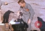 Image of airman on rocket sled New Mexico United States USA, 1958, second 8 stock footage video 65675064986