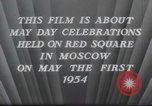 Image of May Day Parade Moscow Russia Soviet Union, 1954, second 8 stock footage video 65675065075