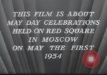 Image of May Day Parade Moscow Russia Soviet Union, 1954, second 9 stock footage video 65675065075