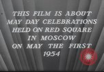 Image of May Day Parade Moscow Russia Soviet Union, 1954, second 10 stock footage video 65675065075