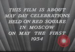Image of May Day Parade Moscow Russia Soviet Union, 1954, second 11 stock footage video 65675065075