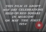 Image of May Day Parade Moscow Russia Soviet Union, 1954, second 12 stock footage video 65675065075