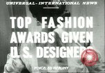 Image of fashion awards New York United States USA, 1951, second 12 stock footage video 65675065078
