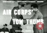 Image of small man Richard Mackey enters Air Force San Antonio Texas USA, 1951, second 4 stock footage video 65675065081