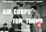 Image of small man Richard Mackey enters Air Force San Antonio Texas USA, 1951, second 5 stock footage video 65675065081