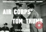 Image of small man Richard Mackey enters Air Force San Antonio Texas USA, 1951, second 6 stock footage video 65675065081