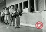 Image of small man Richard Mackey enters Air Force San Antonio Texas USA, 1951, second 10 stock footage video 65675065081