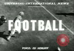 Image of football match West Point New York USA, 1951, second 3 stock footage video 65675065082