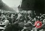 Image of Sidewalk cafe on Champs-Elysees Paris France, 1928, second 3 stock footage video 65675065235