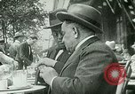 Image of Sidewalk cafe on Champs-Elysees Paris France, 1928, second 6 stock footage video 65675065235