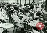 Image of Sidewalk cafe on Champs-Elysees Paris France, 1928, second 7 stock footage video 65675065235