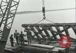 Image of railroad bridge Wesel Germany, 1945, second 4 stock footage video 65675065307