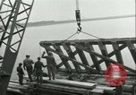 Image of railroad bridge Wesel Germany, 1945, second 5 stock footage video 65675065307